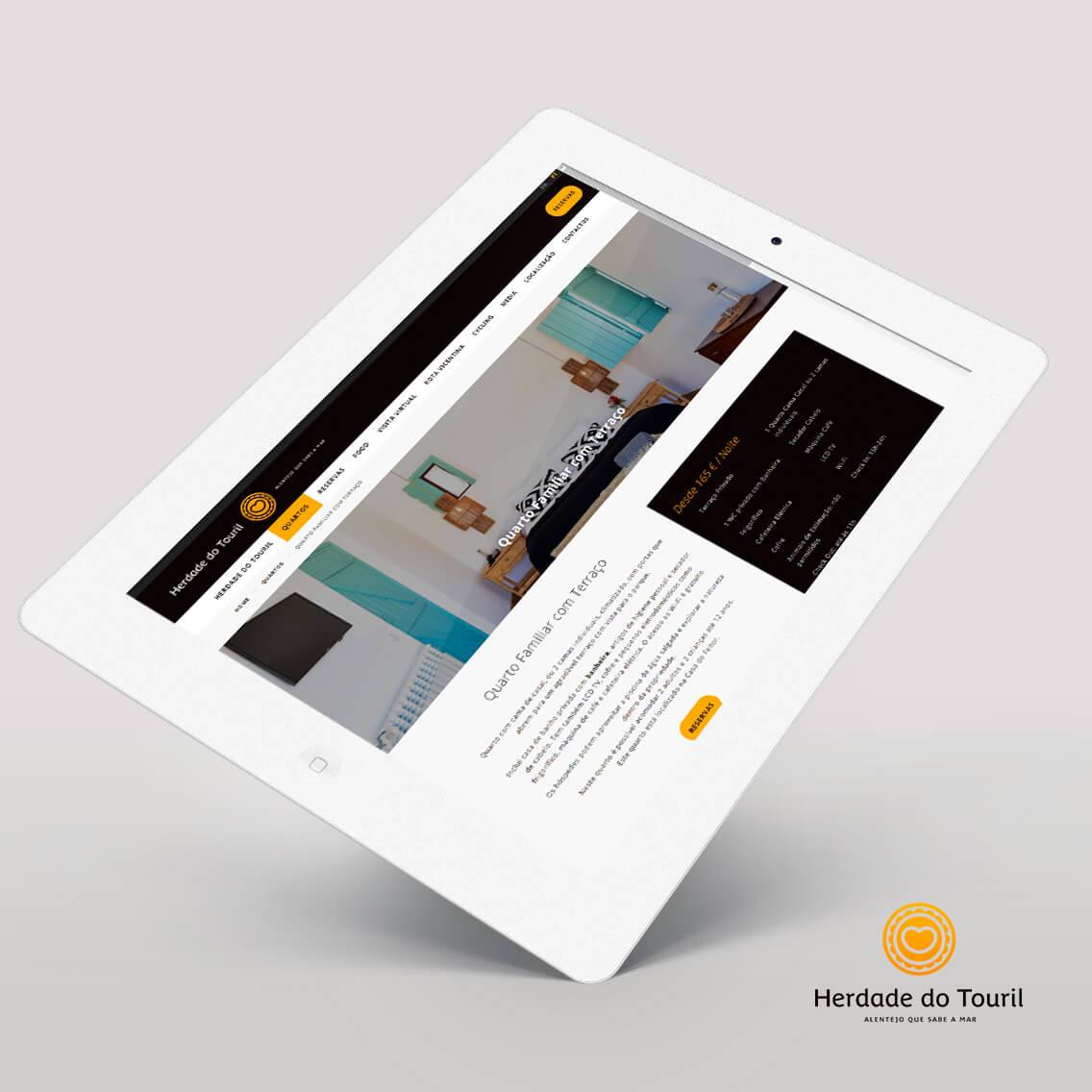 Website Herdade do Touril Portfolio Mind Forward, agência de marketing digital