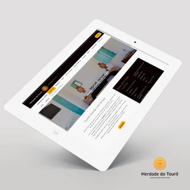 Site Herdade do Touril - projeto pela Mind Forward, agência de marketing digital