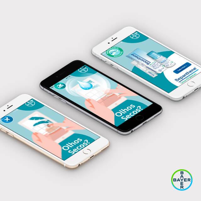 Bepanthene Gotas - Projeto de desenvolvimento de Banners animados para Bayer pela Mind Forward, agência de marketing digital