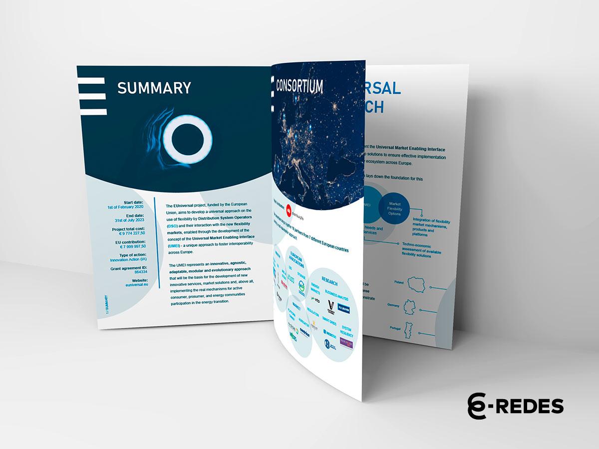 Folheto EUniversal desenvolvido pela Mind Forward, agência de marketing digital