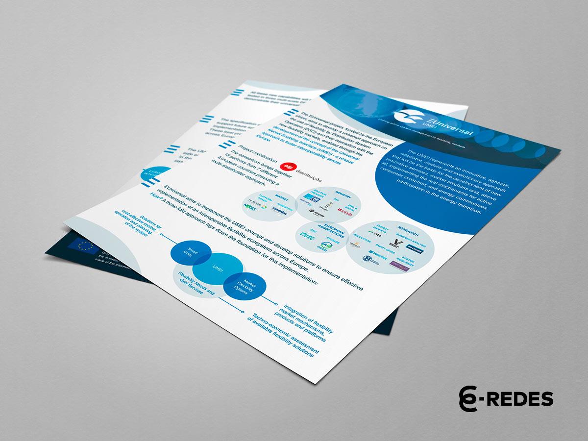 Portfolio EUniversal Flyer desenvolvido pela Mind Forward, agência de marketing digital