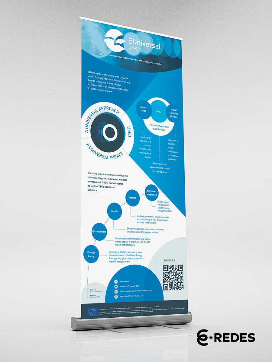 Roll Up desenvolvido para projeto EUniversal pela Mind Forward, agência de marketing digital