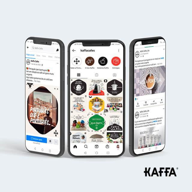 Estratégia de Social Media Kaffa Cafés - Detalhe Portfolio Mind Forward